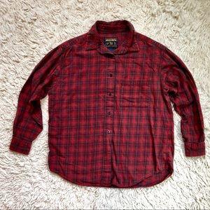 Vintage Woolrich Plaid Flannel Button Down Shirt